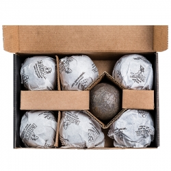 "Стальные шары - ядра для бани ""Добрячий пар"", 60мм х 7шт, 6.4кг"