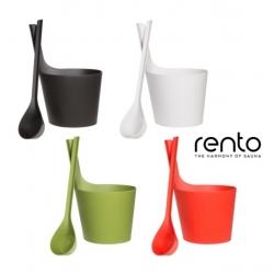 Набор Rento - банная шайка и черпак из биокомпозита, 5л