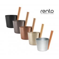 Шайка из анодированного алюминия с бамбуковой ручкой Rento, 5л