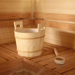 Запарник для бани Sawo сосна скандинавская со вставкой