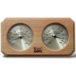 Термогигрометр для бани 2 в 1, кедр Sawo 221 THD