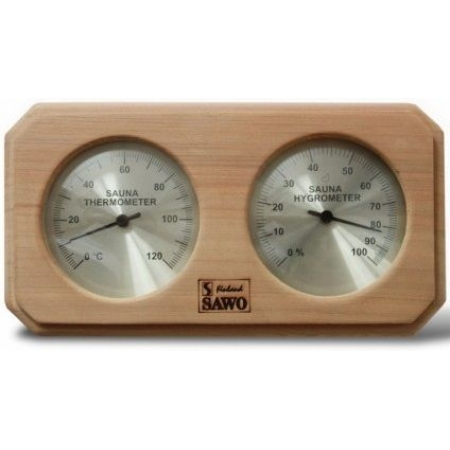 Термогигрометр для бани из кедра Sawo 221-THD