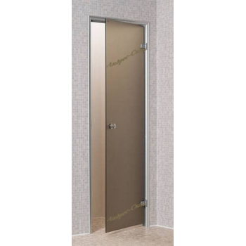 Дверь для парной Andres 800*1900 бронза прозрачная