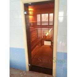 Двери для саун VALTE Бронза 800*2000 фурнитура ХРОМ купить выгодно
