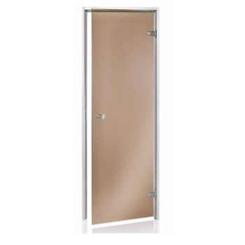 Дверь для парной Andres 700*1900 бронза прозрачная