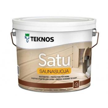 Пропитка для вагонки Teknos Satu Saunasuoja, 2.7л Финляндия