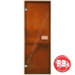 Стеклянные двери для саун VALTE 700*1900 бронза матовая