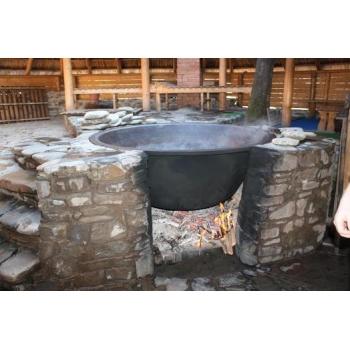 Чугунный чан для бани без термостойкого покрытия на 6-8 человек