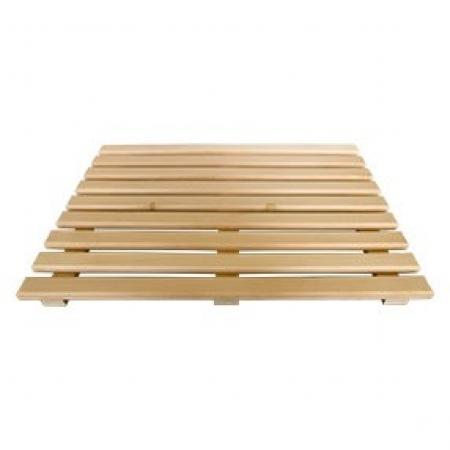 Трапик деревянный для пола сауны 500*600*48мм, ольха