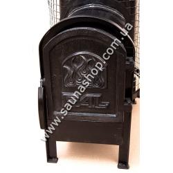 Дровяная печь PAL 18 SL с выносной чугунной дверцей по отличным ценам в Киеве