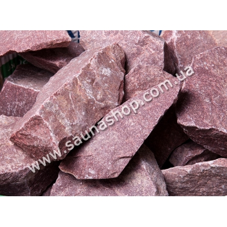 Камни для печи - малиновый кварцит колотый, 20кг ТМ Банька