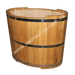 Бочка купель из дуба круглая диаметр 1500мм*1000(h)мм