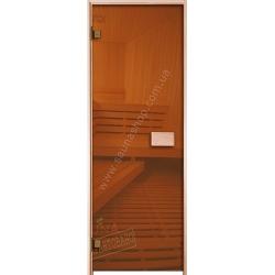 Двери для саун VALTE Бронза 630*1730 фурнитура ХРОМ по отличным ценам в Киеве