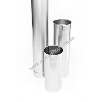 Труба одностенная из нержавейки, длина 1,0м