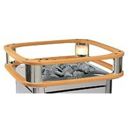 Электрокаменка Harvia Elegance - только ограждение из ольхи с подсветкой