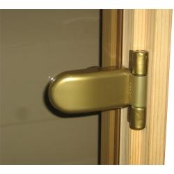 Двери стеклянные для бани сауны Raiser 700*1900 (690*1836мм) бронза прозрачная