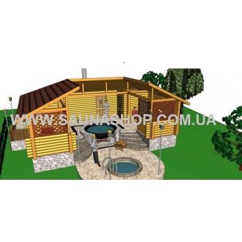 Деревянный сруб с чаном комплекс Рациональный