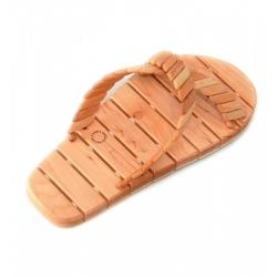 Тапочки деревянные для бани (массажные), пара, размеры 36-45