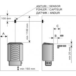 """Электрокаменка Harvia Sound M-60E под выносной пульт (до +120""""С)"""