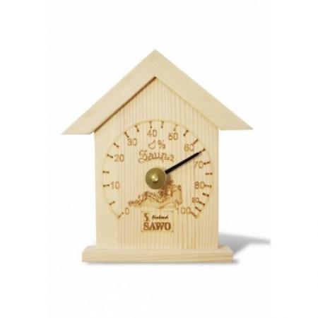 Термометр классический домик большой, сосна