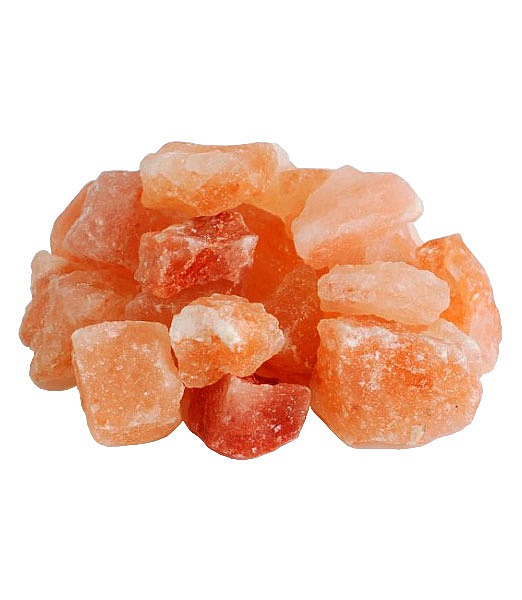 соль гималайская, корзина с розовой солью